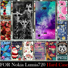 For nokia Lumia 720 CASE Hard Plastic Mobile Phone Cover Case DIY Color Paitn Cellphone Bag Shell  Shipping Free