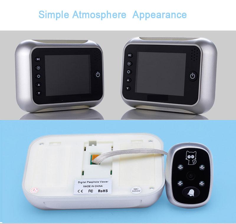"""HTB1cBlMPFXXXXabXpXXq6xXFXXXr - New 3.5"""" LCD Color Screen Electronic Door Bell Viewer IR Night Door Peephole Camera Photo/Video Recording Digital Door Camera"""