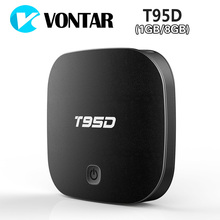 VONTAR T95D Android TV Box Rockchip RK3229 Quad Core Android 6.0 BT4.0 RAM 2GB DDR3 ROM 8GB 2.4GHz WiFi HD Smart TV Media Player