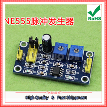 2pcs NE555 pulse generator square wave rectangular wave frequency duty cycle adjustable small signal generator 555 module  board
