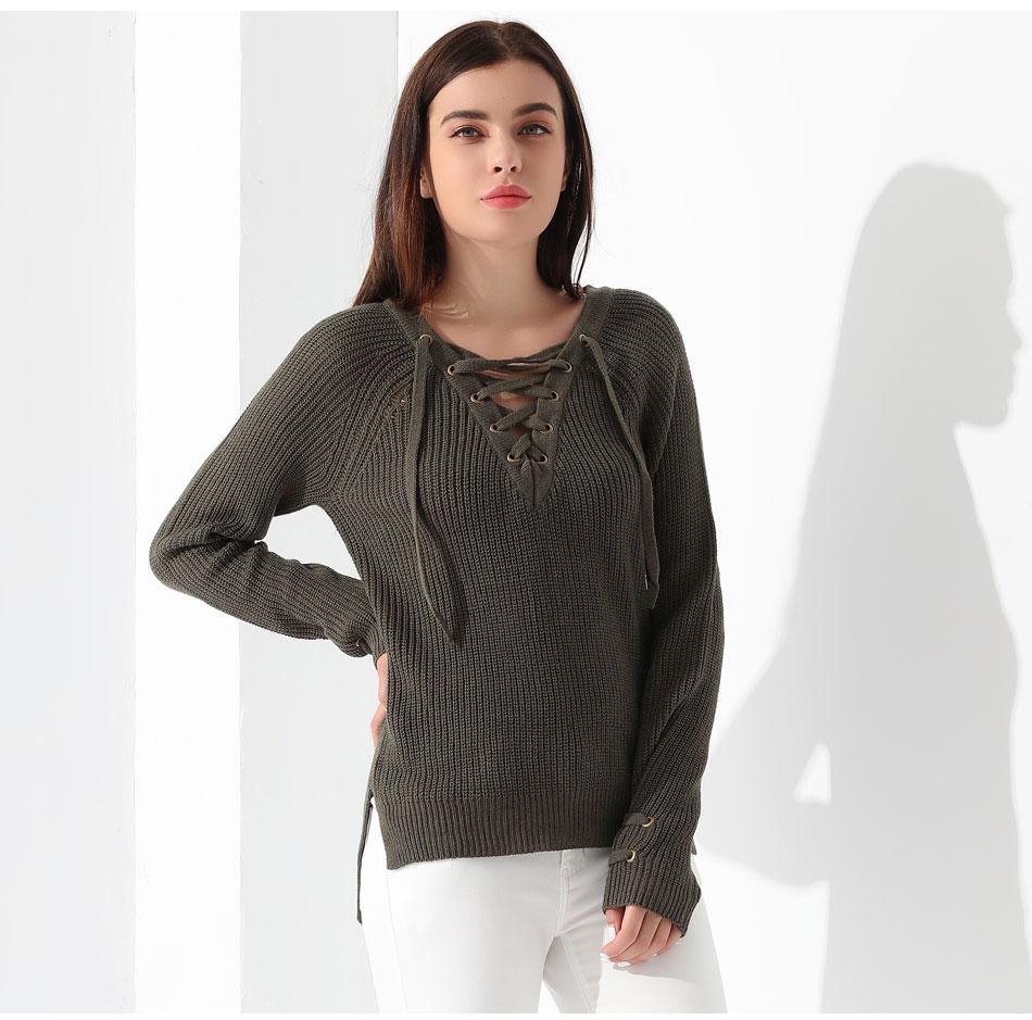 Women's Pullover Long Sleeve KnittedSweater 40