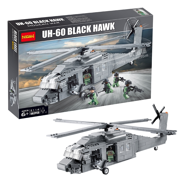 Decool 2114 562Pcs Building Blocks Military UH-60 BLACK HAWK Plane Airplane Helicopter Educational Compatible with leping<br><br>Aliexpress