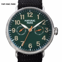 South Korea Fashion Brand Watch Quartz Casual Wristwatch NATURAL PARK Men's 2016 relojes hombre hand made Nylon Strap Waterproof(China)