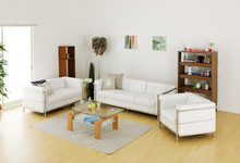 U-BEST high quality Le Corbusier LC2 sofa sectional sofa set,1+2+3 seater in top grain genuine leather(China)