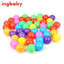 100pcs Safety Multi-color Toy Ball Ocean Ball Pool Toy Ocean Ball Diameter 5.5cm Thick Green Plastic Sea Ball WJ811Q100 ingbaby