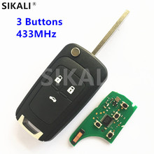 3 Buttons Remote Car Key for GM/Chevrolet Onix / New Prisma (MKII) Vehicle Control Alarm 2013 2014 2015 2016 2017(China)