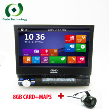 1 Din Car Video Player 7'' HD Touch Screen Bluetooth Stereo GPS Radio Car dvd player Audio USB Auto Electronics In Dash