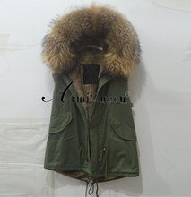 Italy Name Brand vest Designer Fashion Mr Mrs Jackets Real Fur Coat(China)