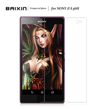 Baixin For Sony Xperia Z L36H HD Vision Screen Protector 9H 2.5D 0.26mm For Sony Z L36H Tempered Glass Explosion-Proof
