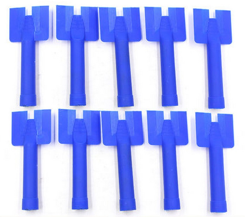 Sausage Caulking Gun Nozzle Silicone Plastic Cone Tip Sachet Accessory 10pcs//Lot