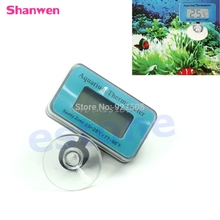 Aquarium LCD Digital Thermometer Submersible Fish Tank Waterproof Vivarium Water -Y121 Best Quality