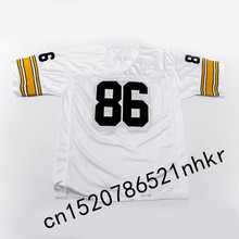 Retro star #86 Hines Ward Embroidered Name&Number Throwback Football Jersey(China)