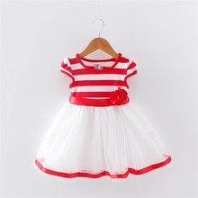 BibiCola Casual Baby Girl Dress Summer New Children Clothing Outfits Baby Girls Fashion Lace Layered Chiffon Party Dresses(China)