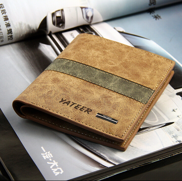 Fashion Men Wallets Casual Design Patchwork Plaid  Quality Soft Matte PU Leather Short Wallet Card Holder Purse Free Shipping<br><br>Aliexpress