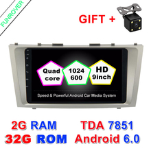 "9"" 2g+32g 2 Din Car Dvd Android 6.0 For Toyota Camry 2007 2008 2009 2010 2011 Radio Stereo Gps Navigation With Steering Wheel(China)"