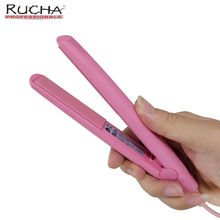 RUCHA Professional Mini Hair Straightener Travel Ceramic Straightening Flat Iron Hair Styling Tool(China)