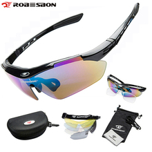 ROBESBON Sports Men Sunglasses Road Cycling Glasses Mountain Bike Bicycle Riding Protection Goggles Eyewear 5 Lens UV400 - AgileDragon Outdoor Equipment Store store