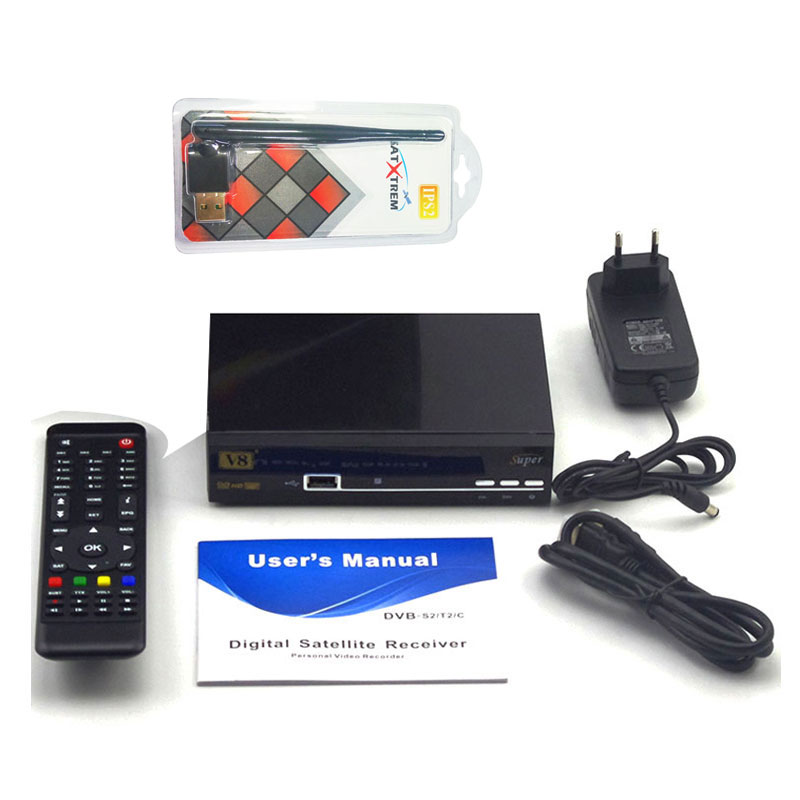 Freesat V8 Super DVB-S2 HD Satellite Receiver Full 1080P TV Receiver free USB Wifi For 1 year Europe IPTV Digital set top box