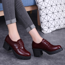 Women Lace Up Patent Leather Shoes 2016 Winter Shoes Med Heels Woman Boots Casual Shoes Ladies Boots zapatos mujer 2976