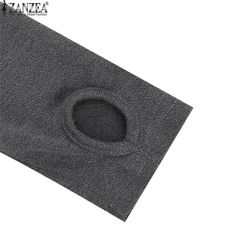 ZANZEA Winter Sweater Dress Vestidos 18 Women Ladies Knitted Casual Long Sleeve Asymmetric Hem Mid-calf Dresses Plus Size 3XL 19