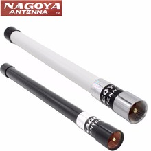 1PC Nagoya NL-350 Fiber Glass Aerial VHF+UHF 144/430MHz Dual Band High Gain Antenna for Yaesu TH-9800 UV-25HX Mobile Car Radio