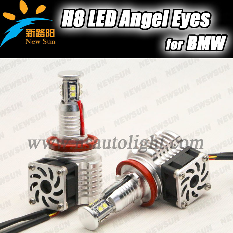 Latest New LED angel eyes H8 80W Cree chip led marker for BMW 09-11 E90 sedan Face lifted (328i,328xi,335d,335i) built in fan<br><br>Aliexpress