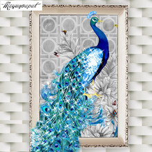 5D diy diamond Painting rhinestone Cross stitch diamond embroidery peacock pictures diamond mosaic home decor canvas gift