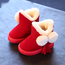 Winter new kids boots girls boots fashion parent-child snow boots kids warm cotton girls winter boots kids shoes girls shoes