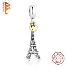 Buy BELAWANG 925 Sterling Silver Jewelry PARIS Eiffel Tower Charm Beads Fit Original Pandora Bracelets & Bangles Pendant DIY Jewelry for $8.91 in AliExpress store