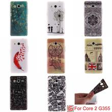 Ultra Thin TPU Silicone Soft Phone Cell Mobile Case kryty Cover Cove For Samsung Galaxy Galaxi Core 2 G 355 SM-G355H SM-G355(China)