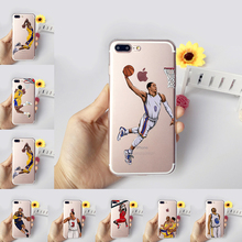 Coque for iphone 5s 7 6s 5 se 6splus 7plus Case NBA Basketball Curry Kobe Wade Westbrook Star Transparent Silicon Soft tpu Cover