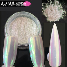 0.2g nail neon aurora pigement Unicorn Nail Powder Mermaid Nail Art Chrome Pigment Manicure Decorations in Tip Glitters for Nail(China)