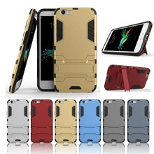 OPP A59 Cover For OPPO A59 Heavy Duty Hybrid Armor PC + TPU Case Cover with Holder A59 Mobile Phone Case