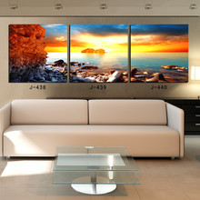 2014 Sale Top Fashion 3 Piece Canvas Wall Panelas Winter Park Dota 2 Sail Racing Hand Painted Oil Painting Mass Effect World Map