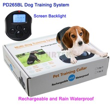 100LV Electric Shock Rechargeable And Waterproof Remote Pet Dog Training Collar With LCD Display For 2 Dogs(China)