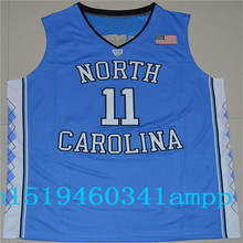 2017 North Carolina Tar Heels Johnson 11 College Basketball Authentic Jersey - White Blue Black Size S,M,L,XL,2XL,3XL
