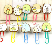 lovely Pin multifunction Meng Things  Organize Admission Paperclip Gift Collection Q-Type Folder Ofice School Supplies