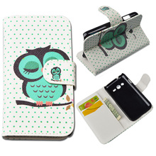 Leather case For Samsung Galaxy Ace 4 Lite G313h G318H G360H G361H G530H G355H case Painting Stand Holder Card Case Phone Bag