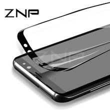 ZNP 3D Curved Soft Screen Protector For Samsung Galaxy S8 Plus NOTE 8 Full Cover Protective Film For Samsung S7 Edge (Not Glass)(China)