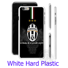 Italian Juventus Footbal Club White Phone Case Cover for iPhone 6 6S 7 Plus 5S 5 SE 5C 4 4S  ( TPU / Hard Plastic for Choice)