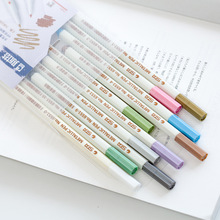 10 color/box DIY Metal Mark Pen Color Marker Graffiti Pen Multicolor para metal oil Paint Marker Sharpie pens Chacos Drawing(China)