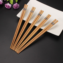 EZLIFE 5 Pairs/set Bamboo Chinese Chopsticks Special Pattern Good Classic Chopsticks Set  Chinese Chopsticks Gift Set MS523