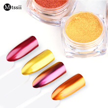 Mtssii Nail Glitter Rose Gold Purple Mirror Chrome Powder Dust Shiny Magic Mirror Effect Nails Art Pigment DIY Nail Decorations(China)