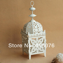 European Style Metal Candle Holder Hallow out Classical Lantern Candelabra Party Decoration Wedding Gift C1019