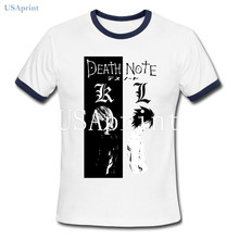 USAprint Fashion Men T Shirts Anime Death Note TV Fan T-shirt Manga Goku Custom Naruto Clothing Male Tee Summer Fall Undershirt(China)