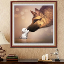 New 5D Sweet Moment of The Dog and Cat Diamond Embroidery DIY Diamond Animal Painting Nice Mosaic Gift Used For Home Decoration