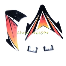 Free shipping JXD 350 350V Tail decorative set  JXD350 350V RC Helicopter Spare Parts Tail balancing wing