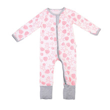 Newborn Infant Baby Girls Romper Long Sleeve Warm Clothes Jumpsuit Zipper Clothes Outfit Bay Girl Autumn Clothing(China)