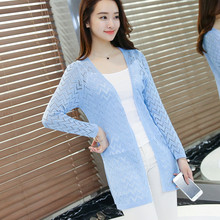 summer women fashion hollow out Cardigan Sunscreen Thin air-conditioned Cardigan women casual summer Cardigan