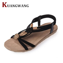 Women Shoes Sandals Comfort Sandals Summer Flip Flops 2017 Fashion High Quality Flat Sandals Gladiator Sandalias Mujer White(China)